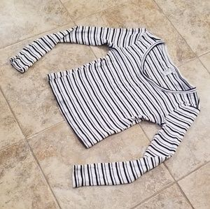 Old Navy Tops - Forever 21 Good Condition Black & White Shirt